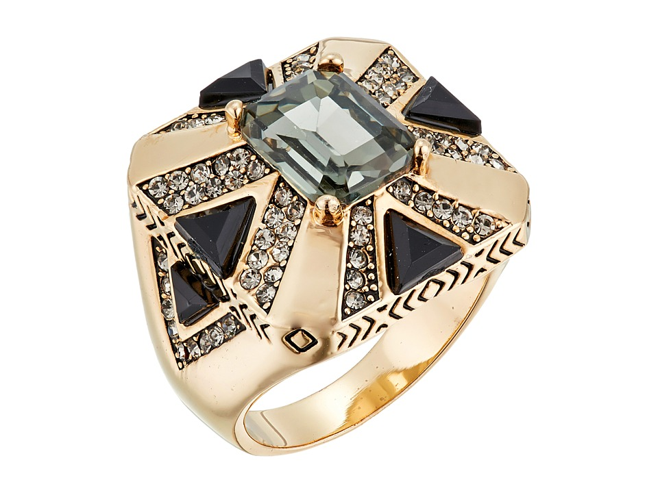 House of Harlow 1960 - Art Deco Ring (Grey) Ring