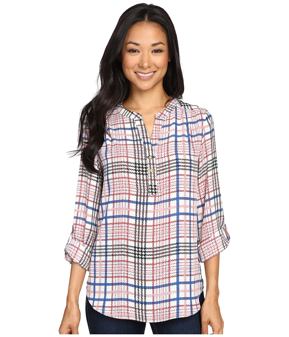 Christin Michaels - Aniseed Print Top (Ivory/Pink) Women's Clothing