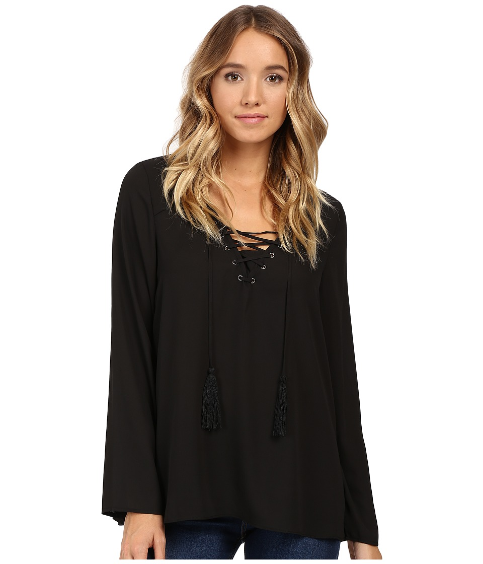 Christin Michaels - Licorice Top (Black) Women's Clothing