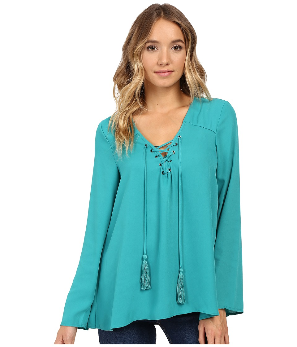 Christin Michaels - Licorice Top (Deep Teal Lagoon) Women's Clothing