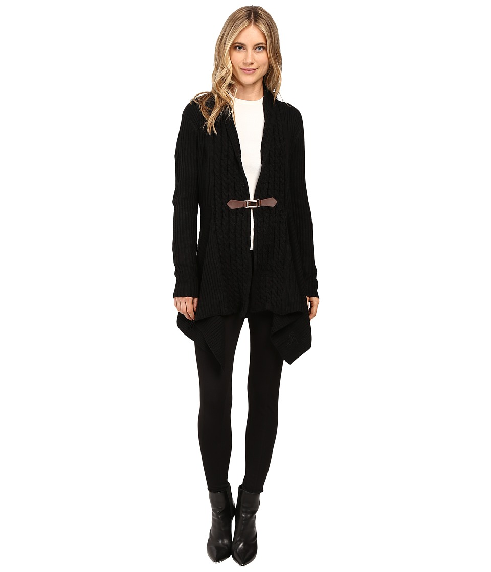 Christin Michaels - Brilliant Cut Buckle Cardigan (Black) Women's Sweater