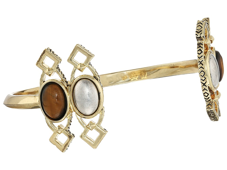 House of Harlow 1960 - Lady Grace Cuff (Tiger's Eye) Bracelet