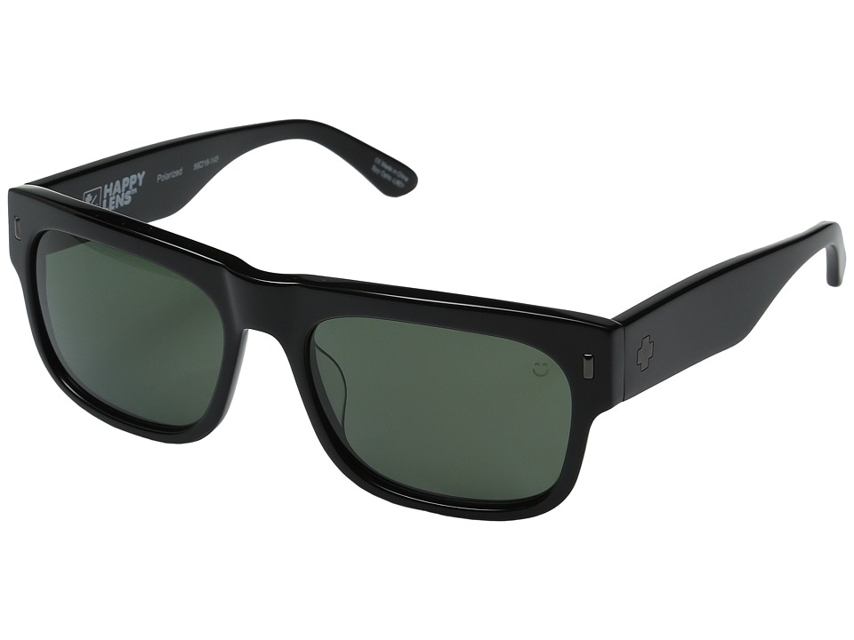 Spy Optic - Hennepin (Black/Happy Gray Green Polarized) Sport Sunglasses