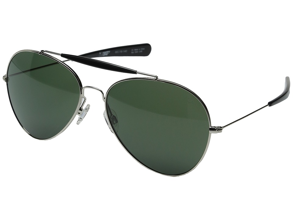 Spy Optic - Presidio (Silver/Black/Happy Gray Green) Sport Sunglasses