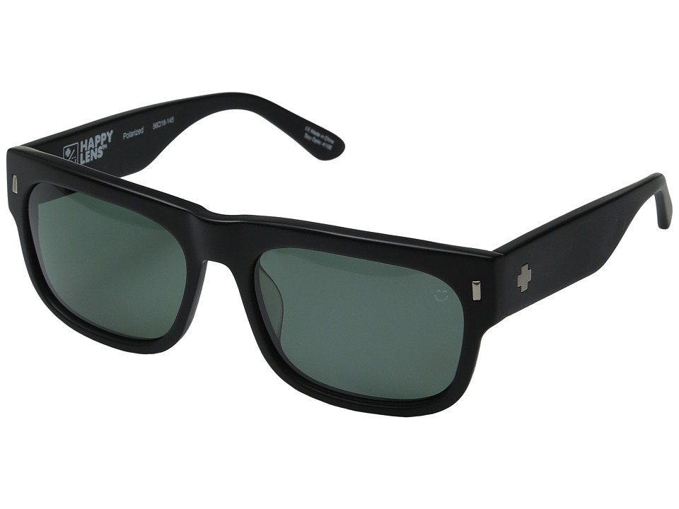 Spy Optic - Hennepin (Matte Black/Happy Gray Green Polar) Sport Sunglasses