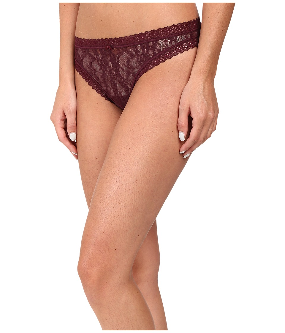 DKNY Intimates - Signature Lace Thong 576000 (Raven) Women's Underwear