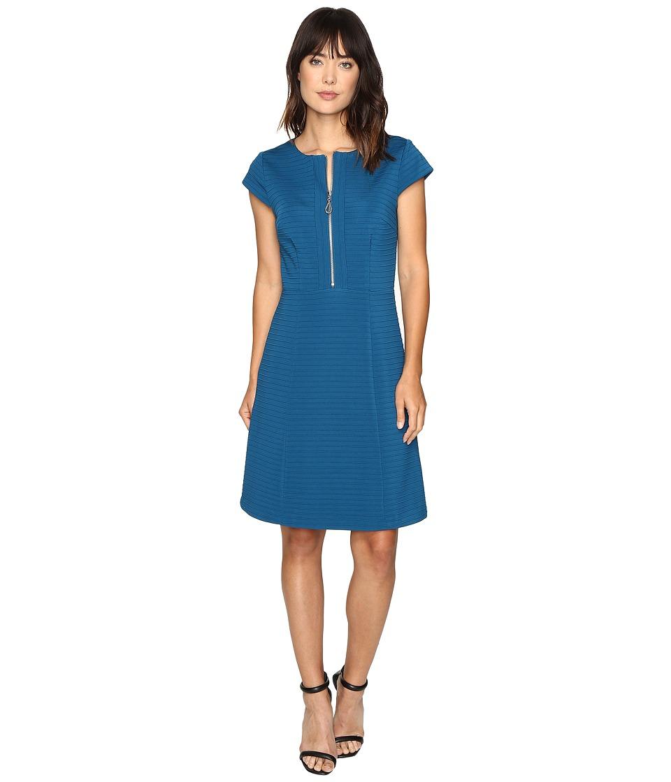 Christin Michaels Homonym Dress (Teal) Women