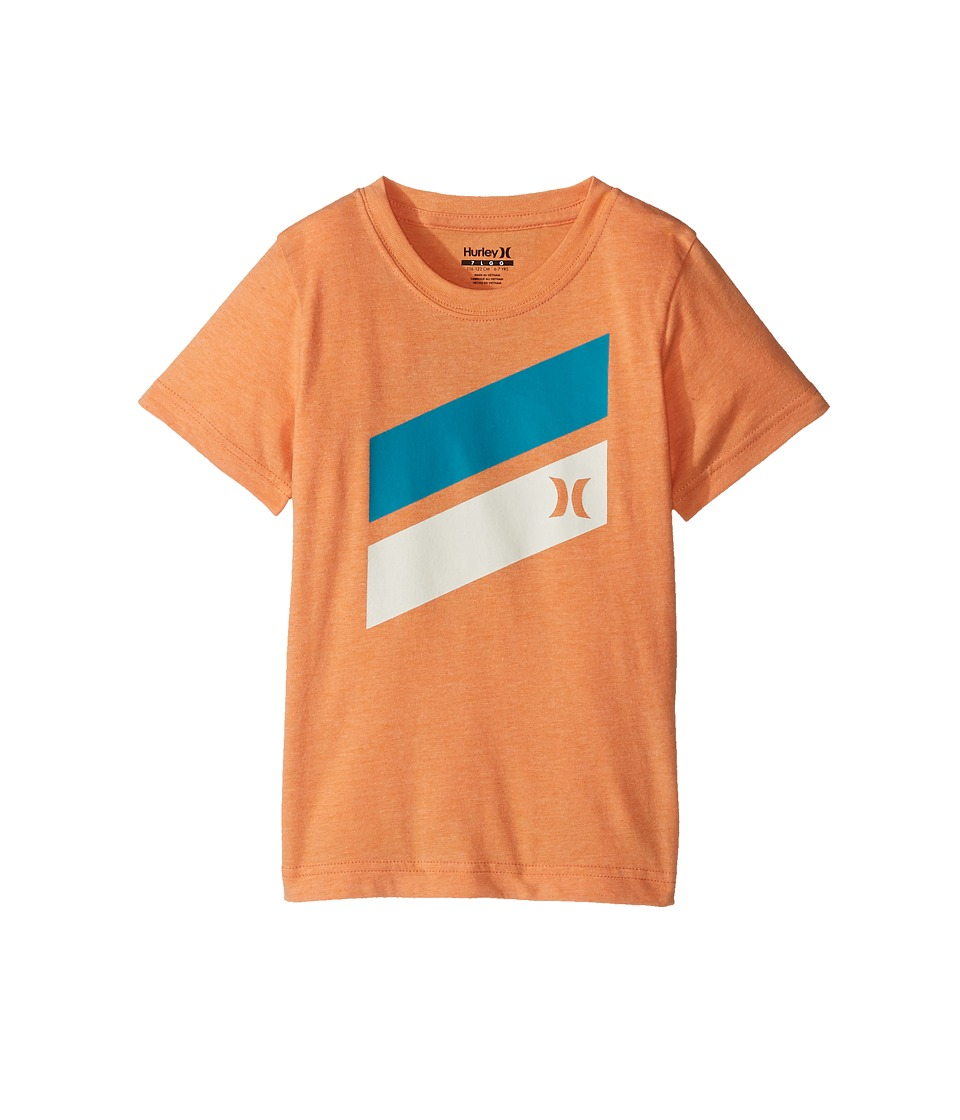 Hurley Kids Short Sleeve Icon Slash Tee (Little Kids) (Clementine Heather) Boy