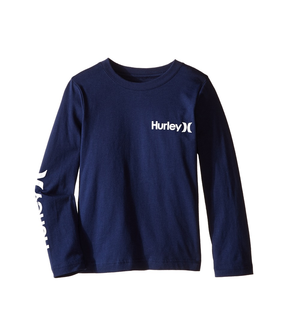 Hurley Kids - Vintage One and Only Tee (Little Kids) (Midnight Navy) Boy's T Shirt