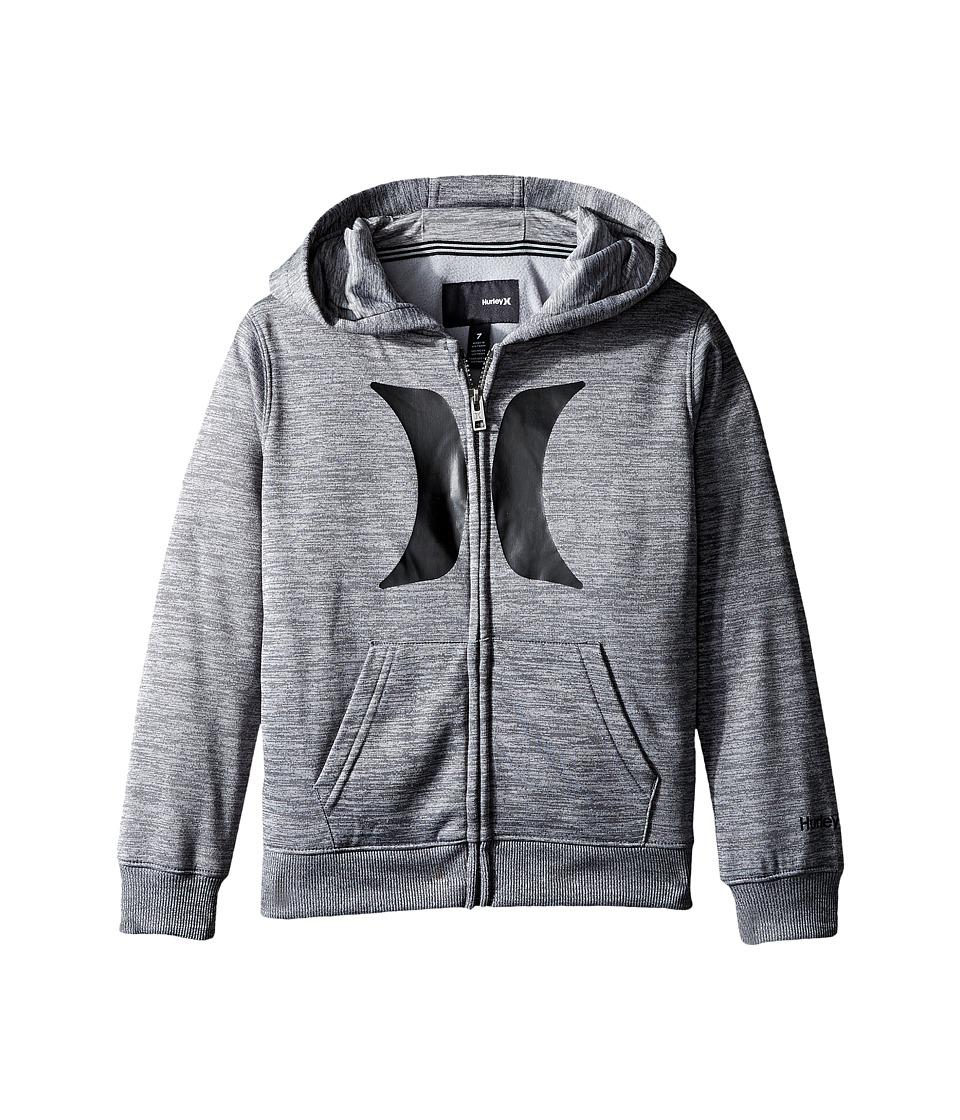 Hurley Kids - Drifit Full Zip Hoodie (Little Kids) (Cool Gray Heather) Boy's Sweatshirt