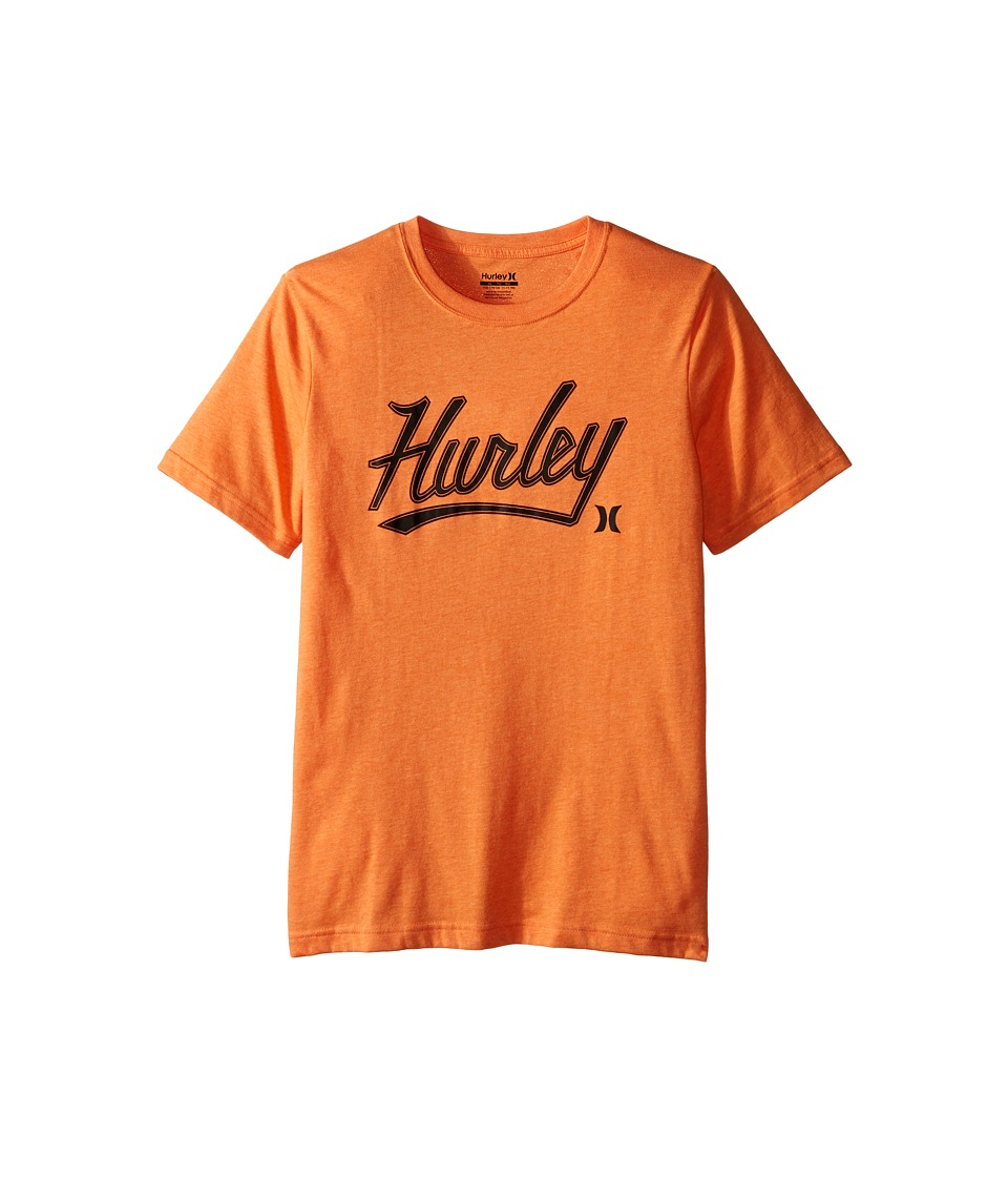 Hurley Kids - Short Sleeve Retreat Tee (Big Kids) (Clementine Heather) Boy's T Shirt