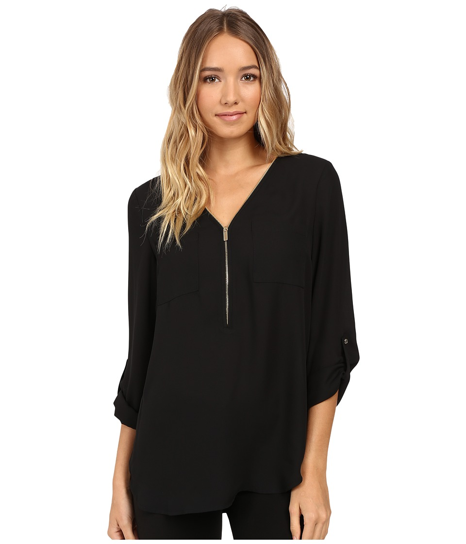 Christin Michaels - Nutmeg Blouse (Black) Women's Blouse