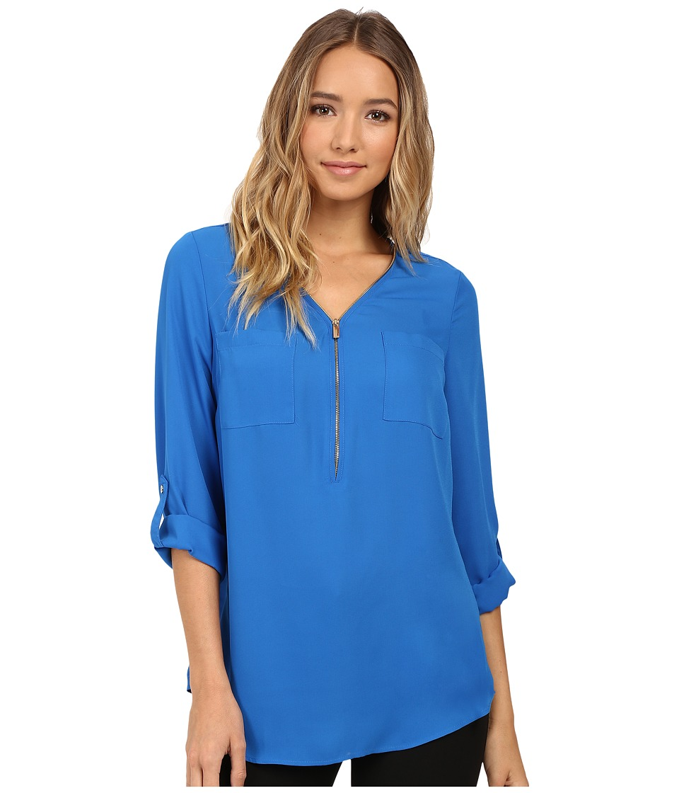 Christin Michaels - Nutmeg Blouse (Ultramarine) Women's Blouse