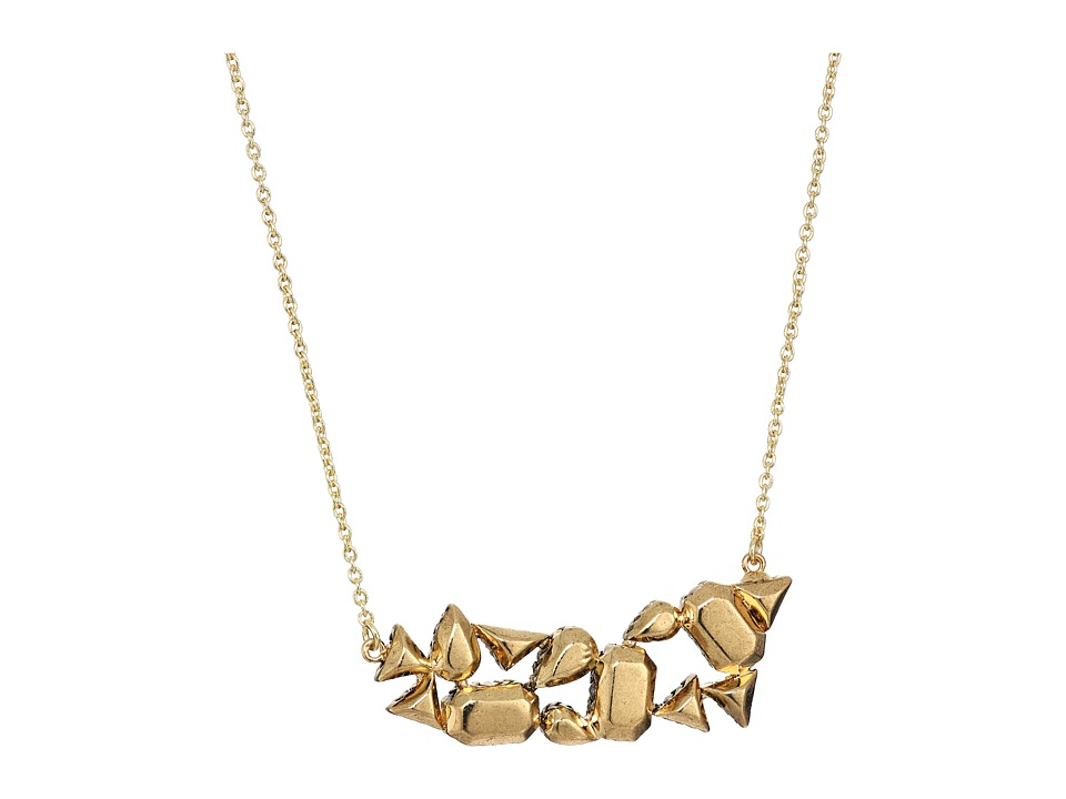 House of Harlow 1960 - The Theia Pave Necklace (Gold) Necklace