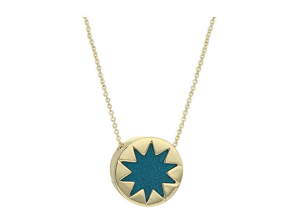 House of Harlow 1960 - Mini Sunburst Necklace (Dark Teal) Necklace