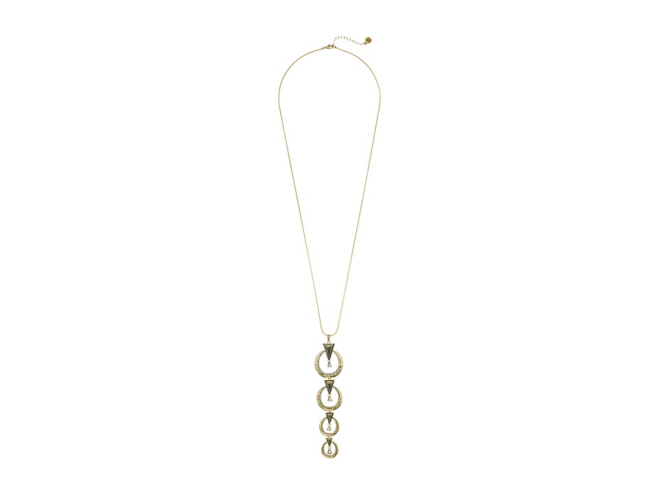 House of Harlow 1960 - Hymn Selene Drop Necklace (Howlite) Necklace