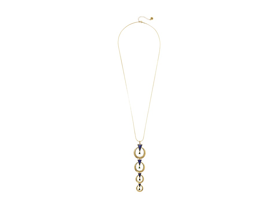 House of Harlow 1960 - Hymn Selene Drop Necklace (Lapis) Necklace