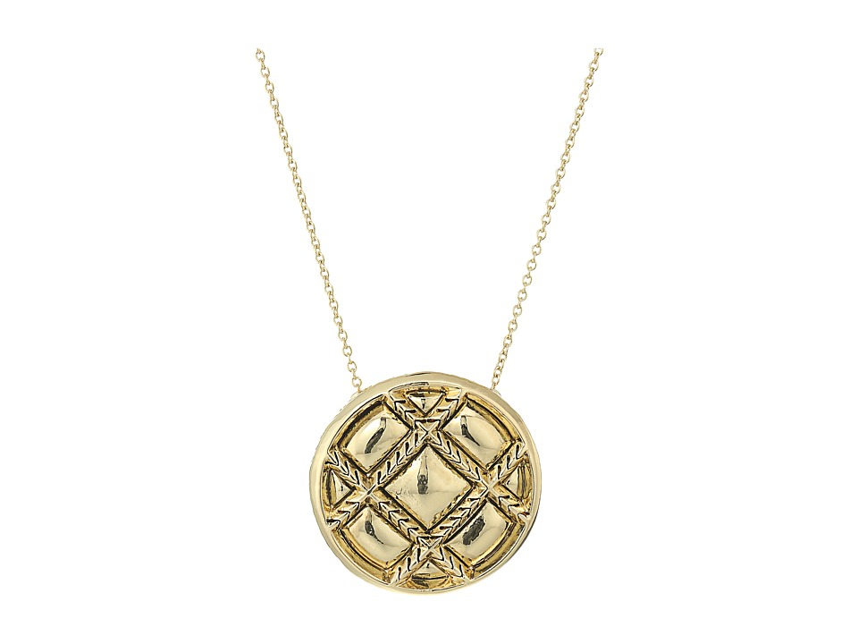 House of Harlow 1960 - Phoebe Quilt Pendant Necklace (Gold) Necklace