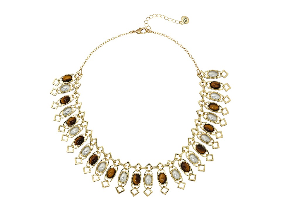 House of Harlow 1960 - Lady Grace Collar Necklace (Tiger's Eye) Necklace