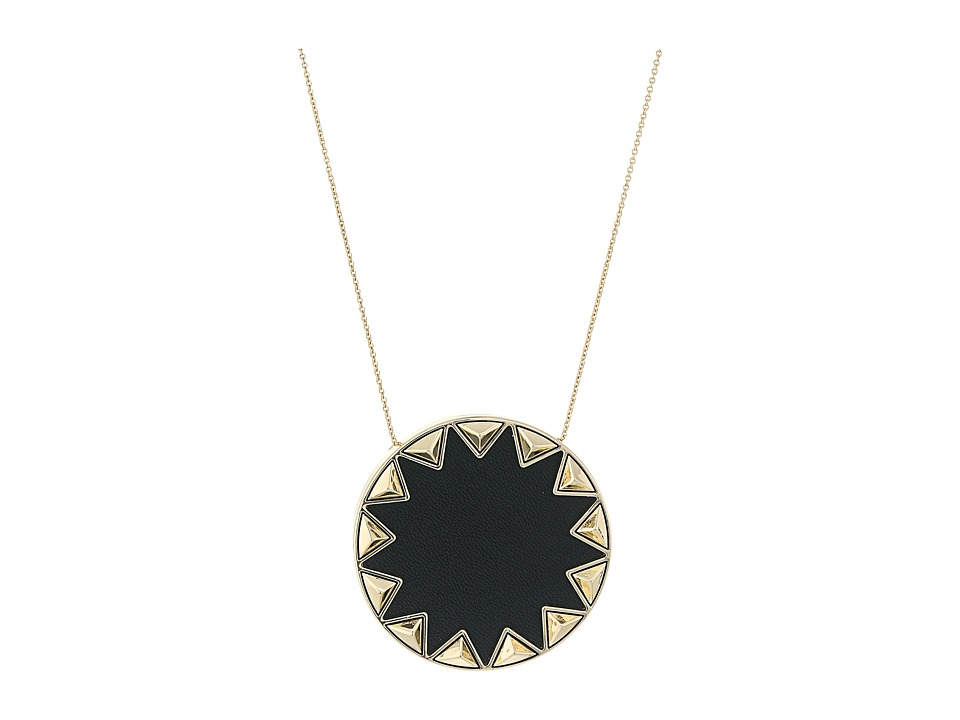House of Harlow 1960 - Sunburst Pyramid Pendant Necklace (Black) Necklace