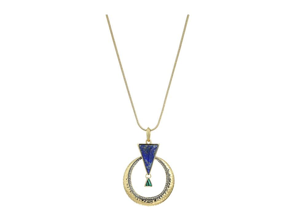 House of Harlow 1960 - Hymn Selene Pendant Necklace (Lapis) Necklace