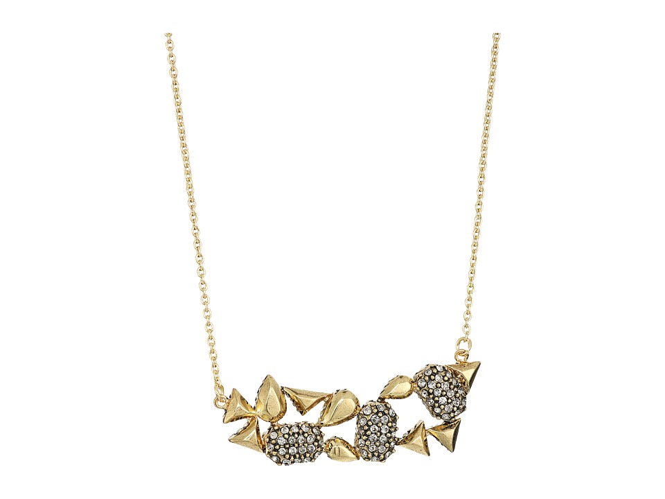 House of Harlow 1960 - The Theia Pave Necklace (Gold 1) Necklace