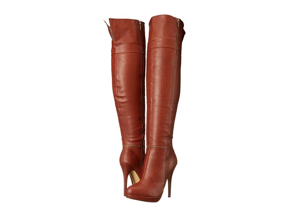 Michael Antonio - Wynni (Cognac) Women's Zip Boots
