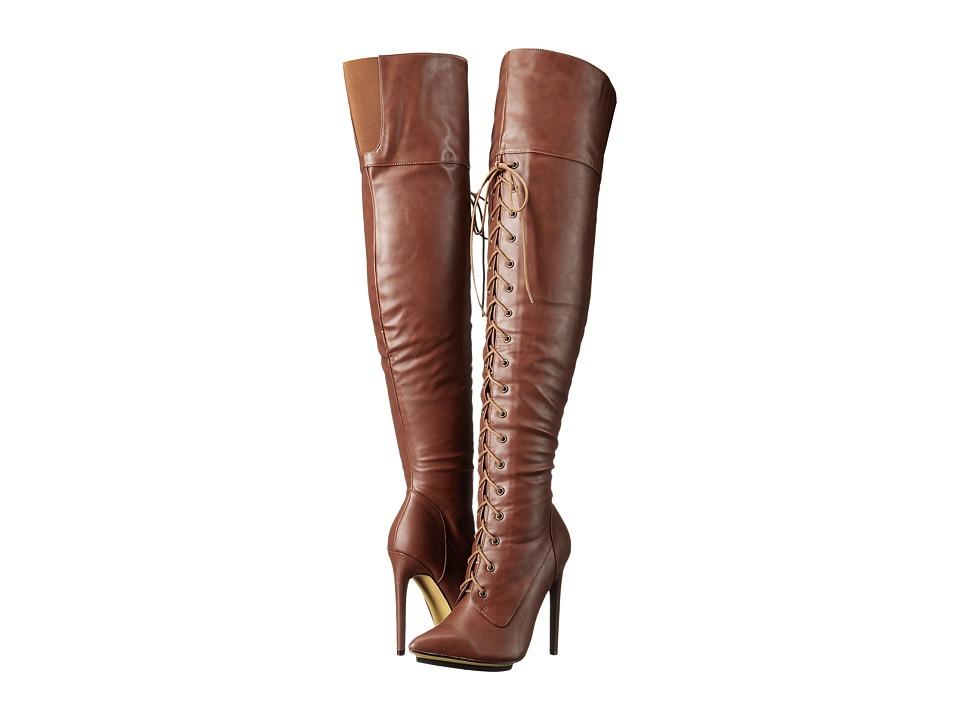 Michael Antonio - Kiev (Cognac) Women's Lace-up Boots