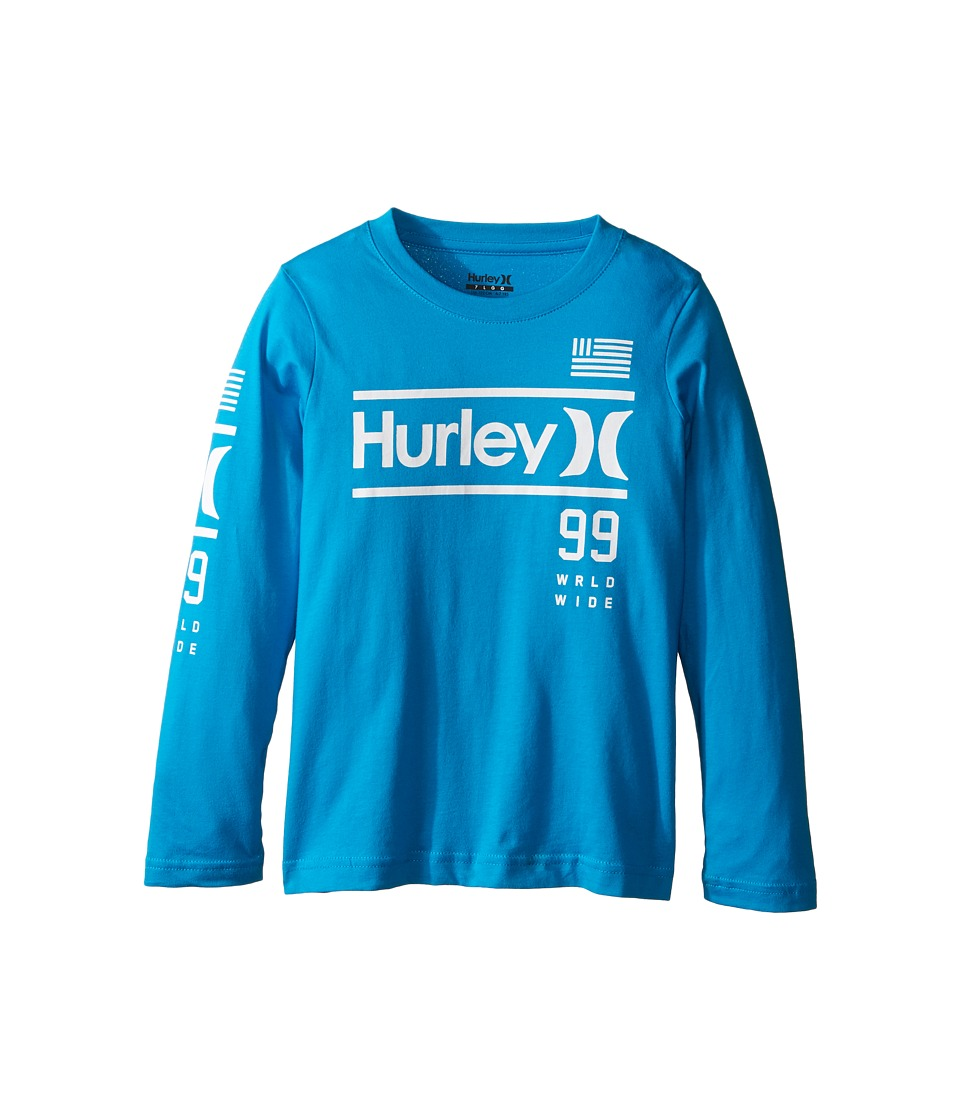 Hurley Kids Pride Only Long Sleeve Tee (Little Kids) (Blue Lagoon) Boy