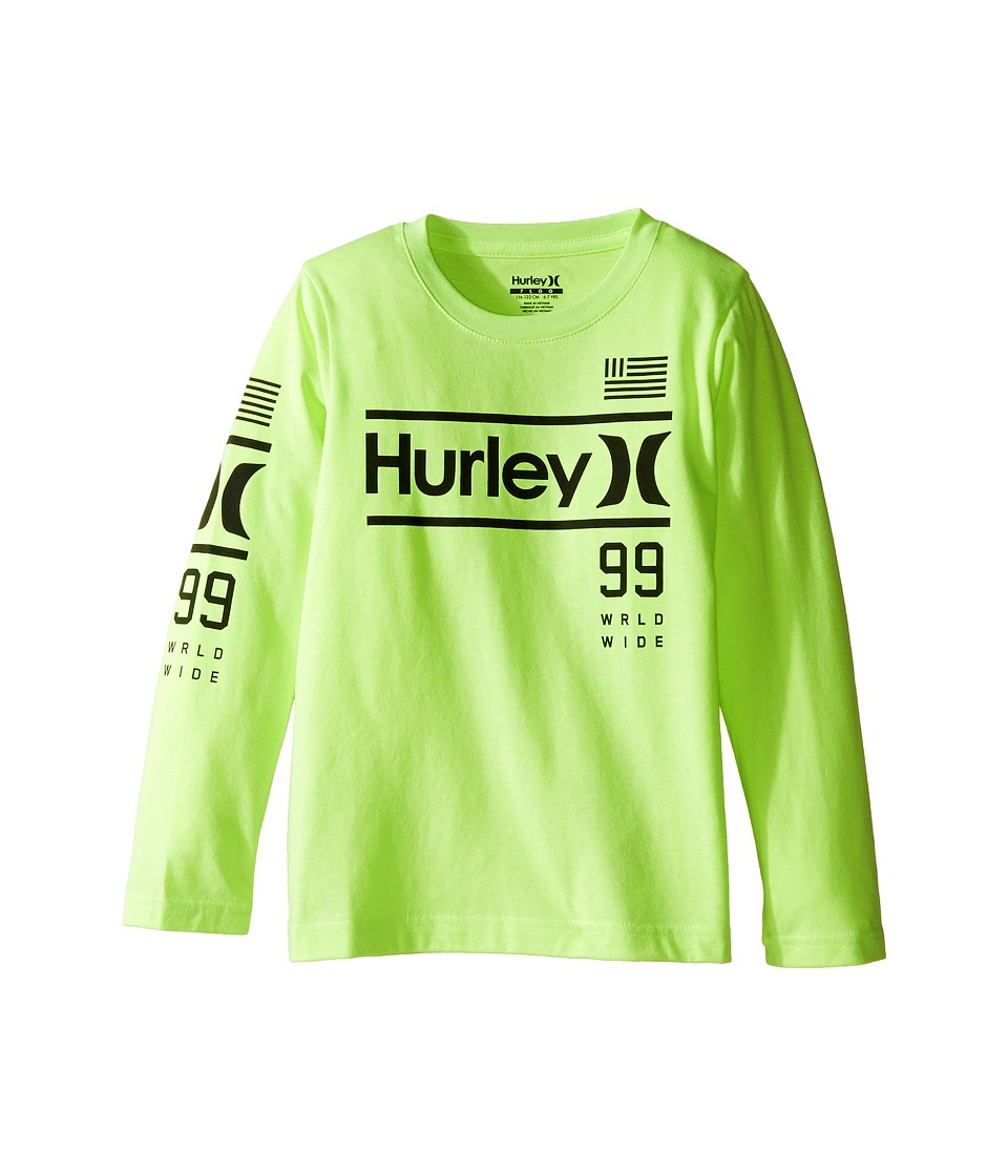 Hurley Kids - Pride Only Long Sleeve Tee (Little Kids) (Ghost Green Heather) Boy's T Shirt