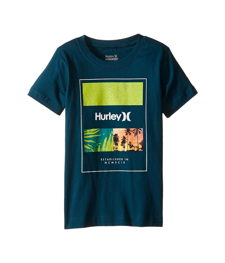 Hurley Kids Skram Tee (Little Kids) (Midnight Turquoise) Boy