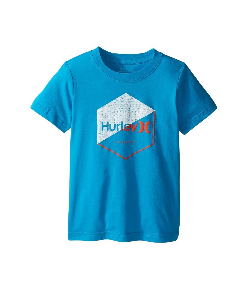 Hurley Kids - Graced Tee (Little Kids) (Blue Lagoon) Boy's T Shirt
