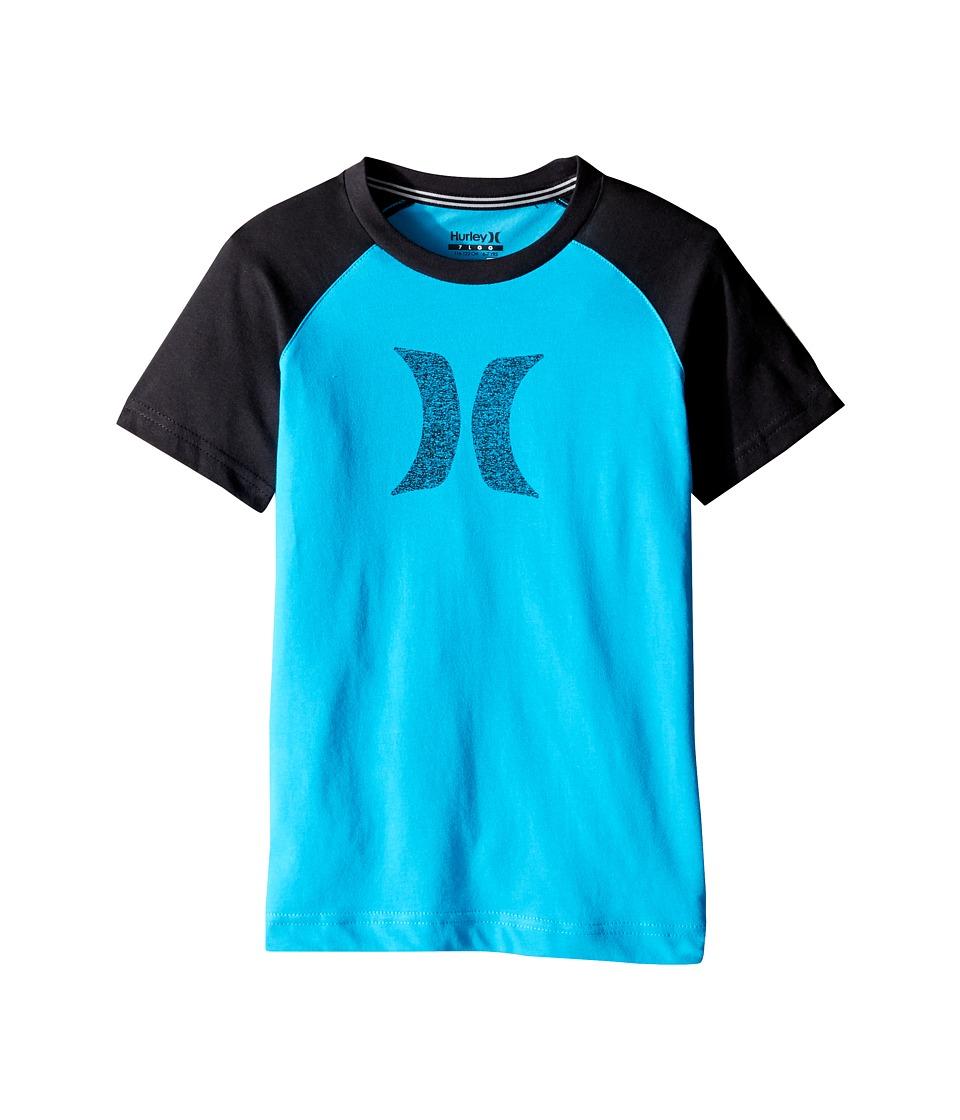Hurley Kids - Drifit Icon Raglan (Little Kids) (Blue Lagoon) Boy's Clothing