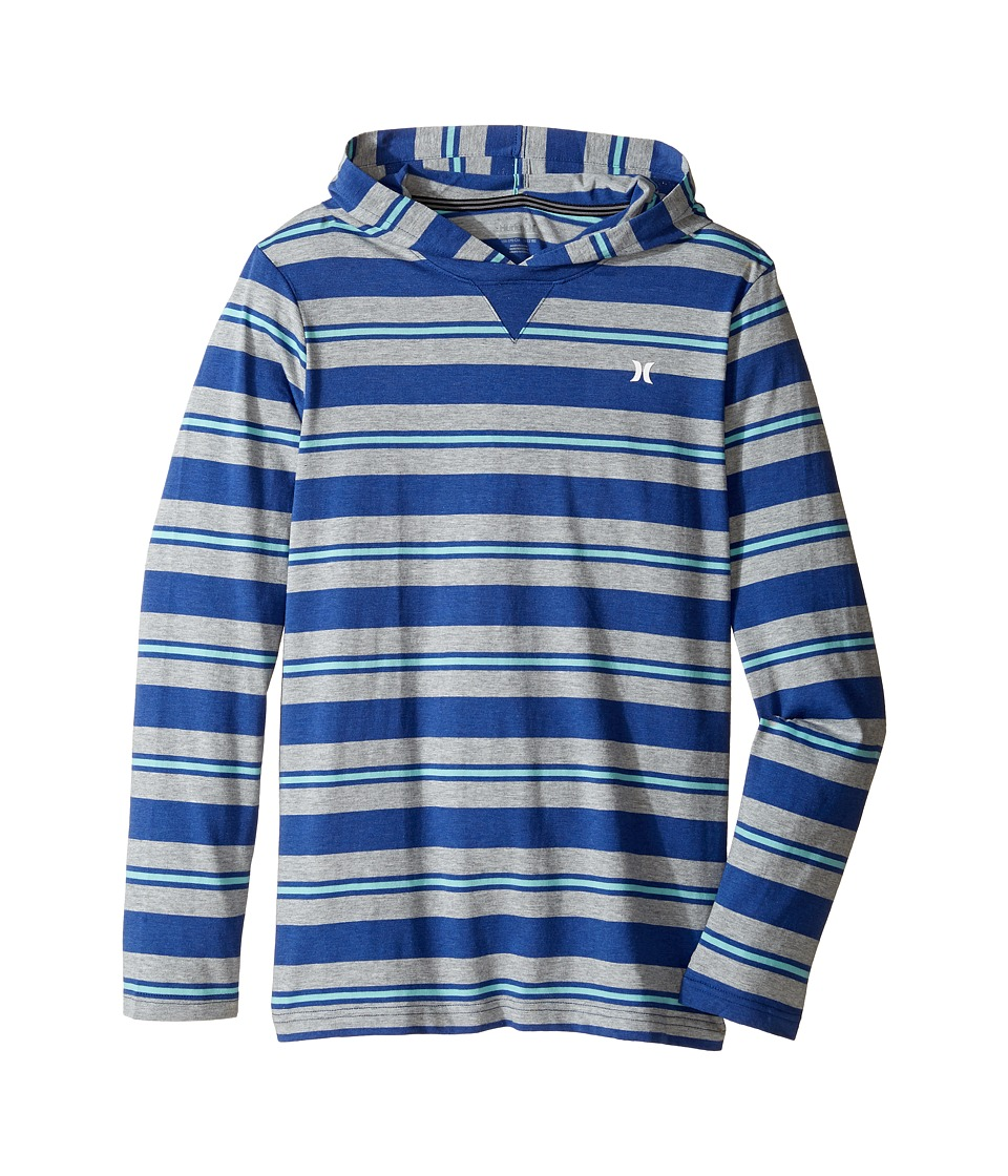 Hurley Kids - Last Call Hooded Pullover (Big kids) (Lyon Blue Heather) Boy's Clothing