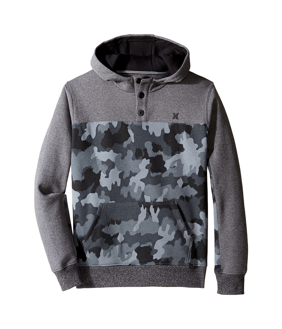 Hurley Kids - Getaway Pullover (Big Kids) (Grey Camo) Boy's Clothing