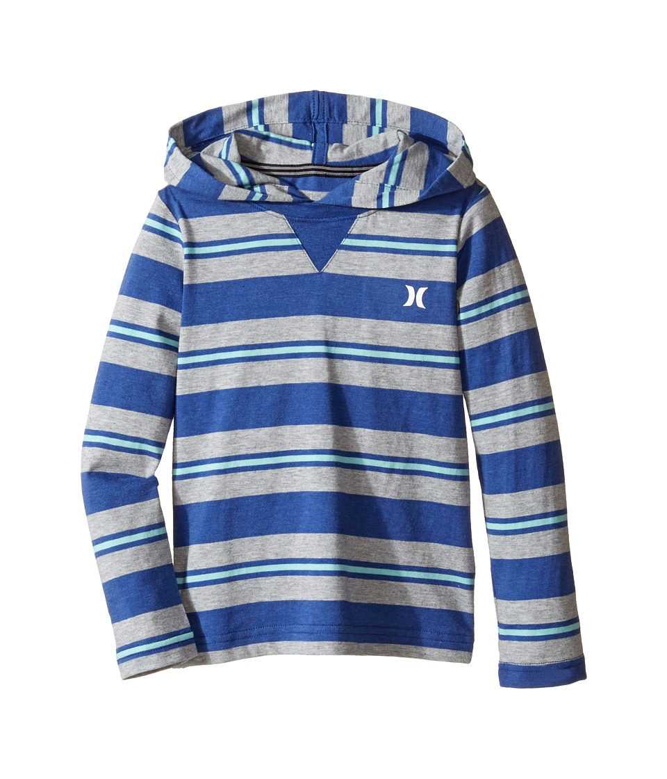 Hurley Kids - Last Call Hooded Pullover (Little Kids) (Lyon Blue Heather) Boy's Clothing
