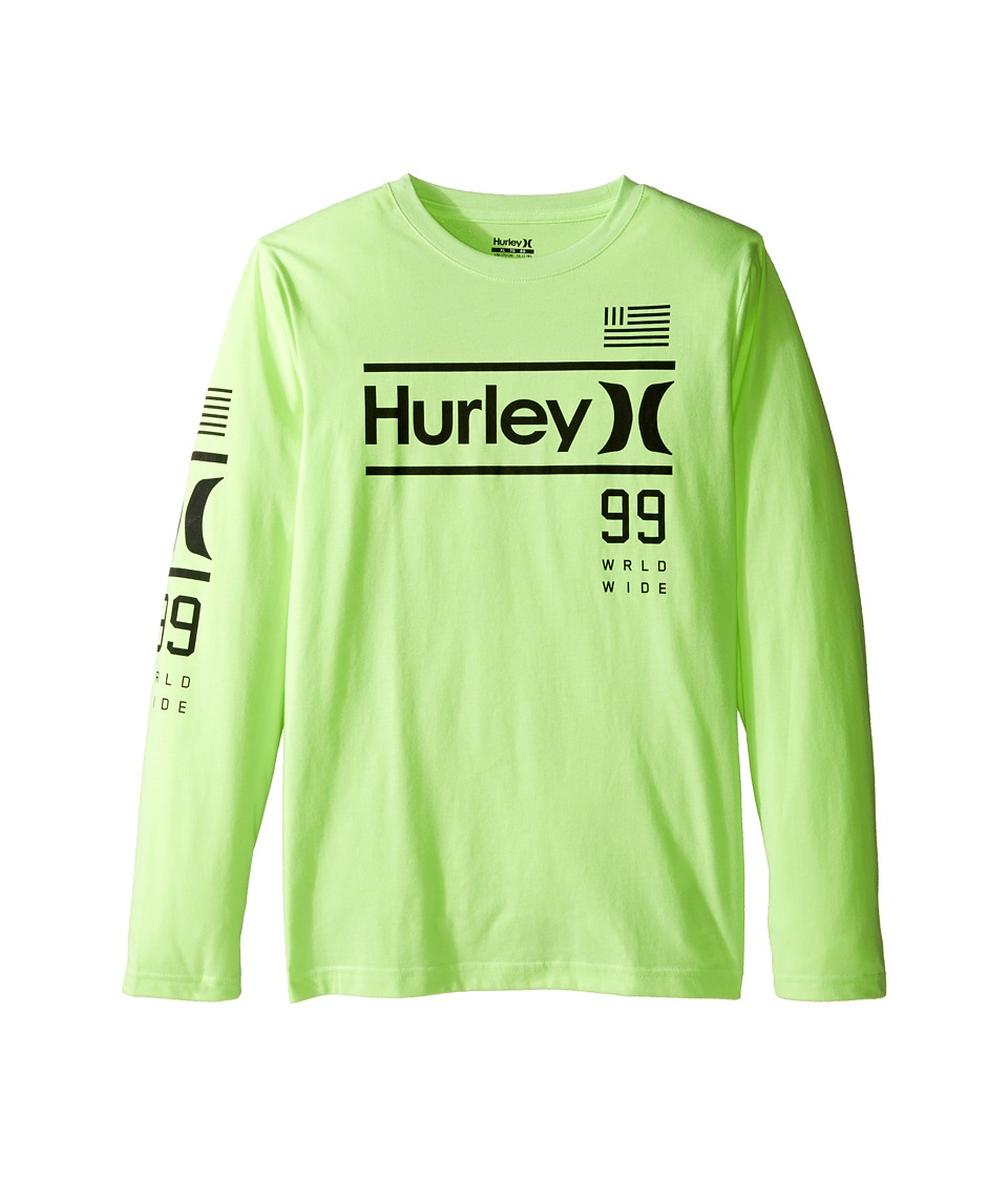 Hurley Kids - Pride Only Long Sleeve Tee (Big Kids) (Ghost Green Heather) Boy's T Shirt