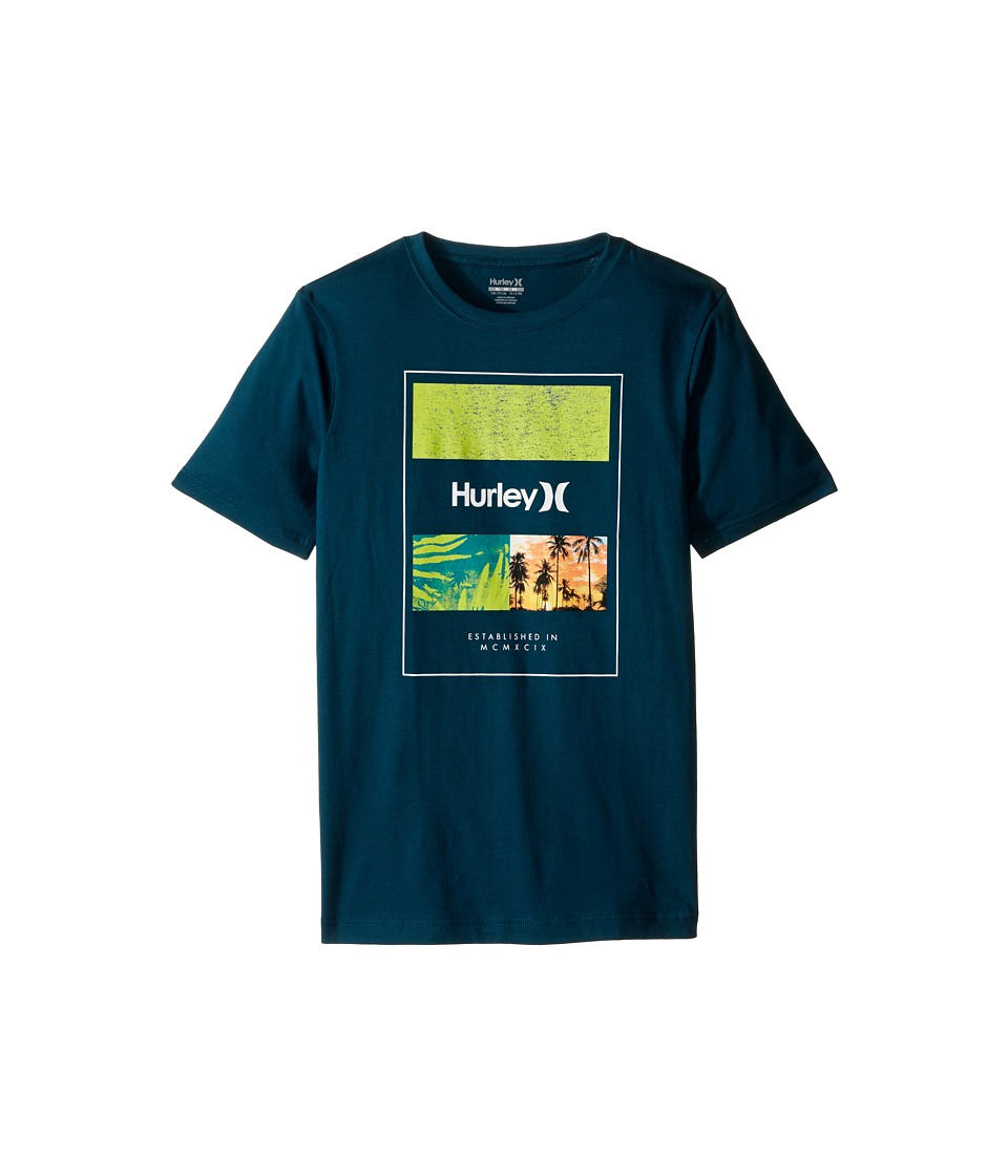 Hurley Kids Skram Tee (Big Kids) (Midnight Turquoise) Boy