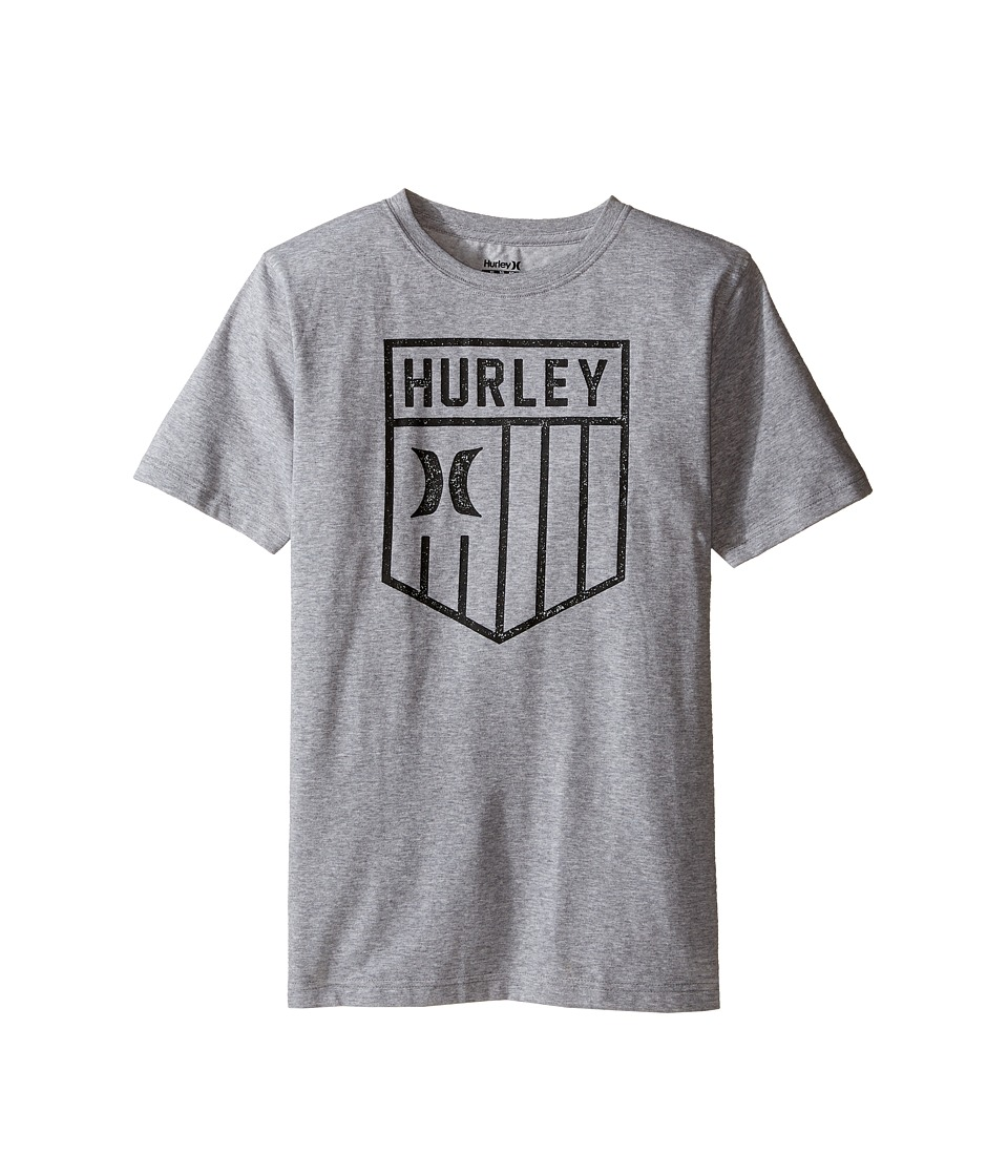 Hurley Kids - Americano Tee (Big Kids) (Dark Grey Heather) Boy's T Shirt