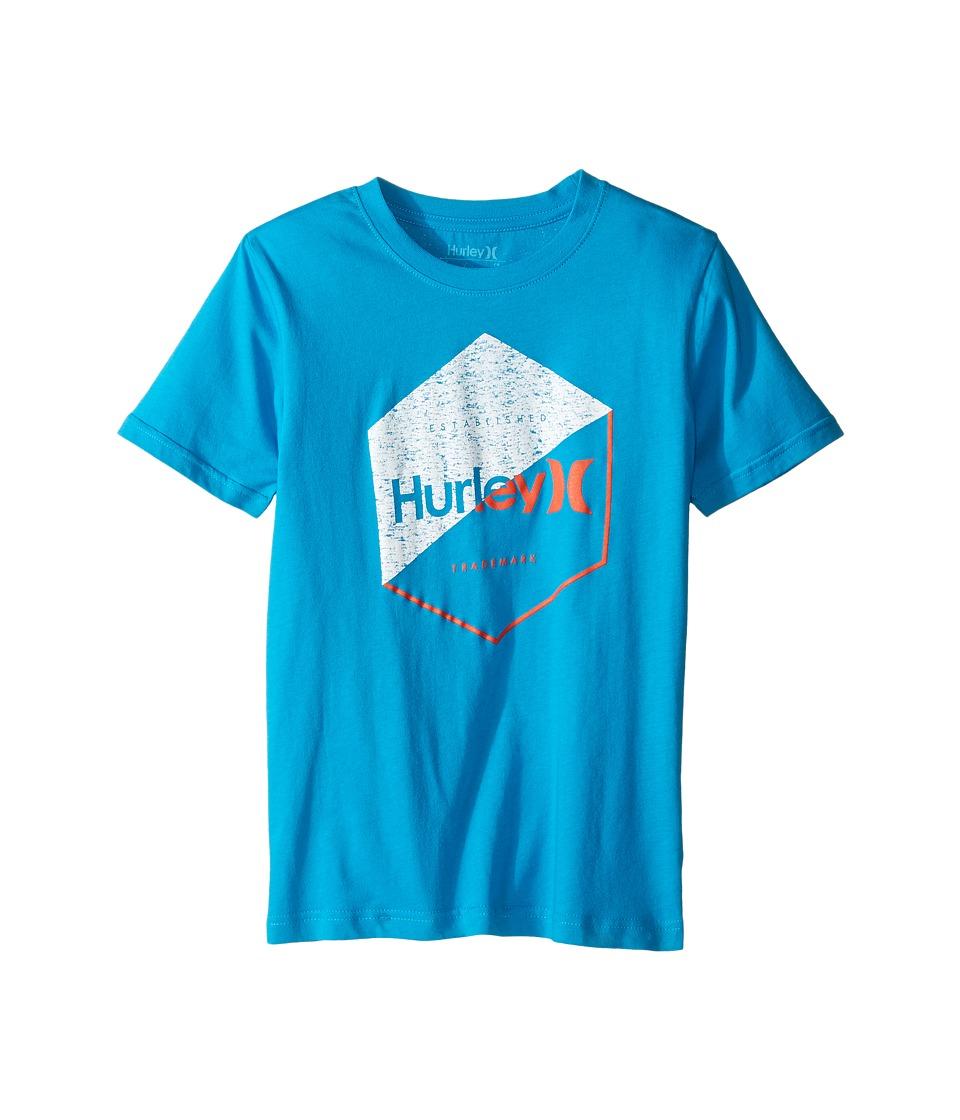 Hurley Kids - Graced Tee (Big Kids) (Blue Lagoon) Boy's T Shirt