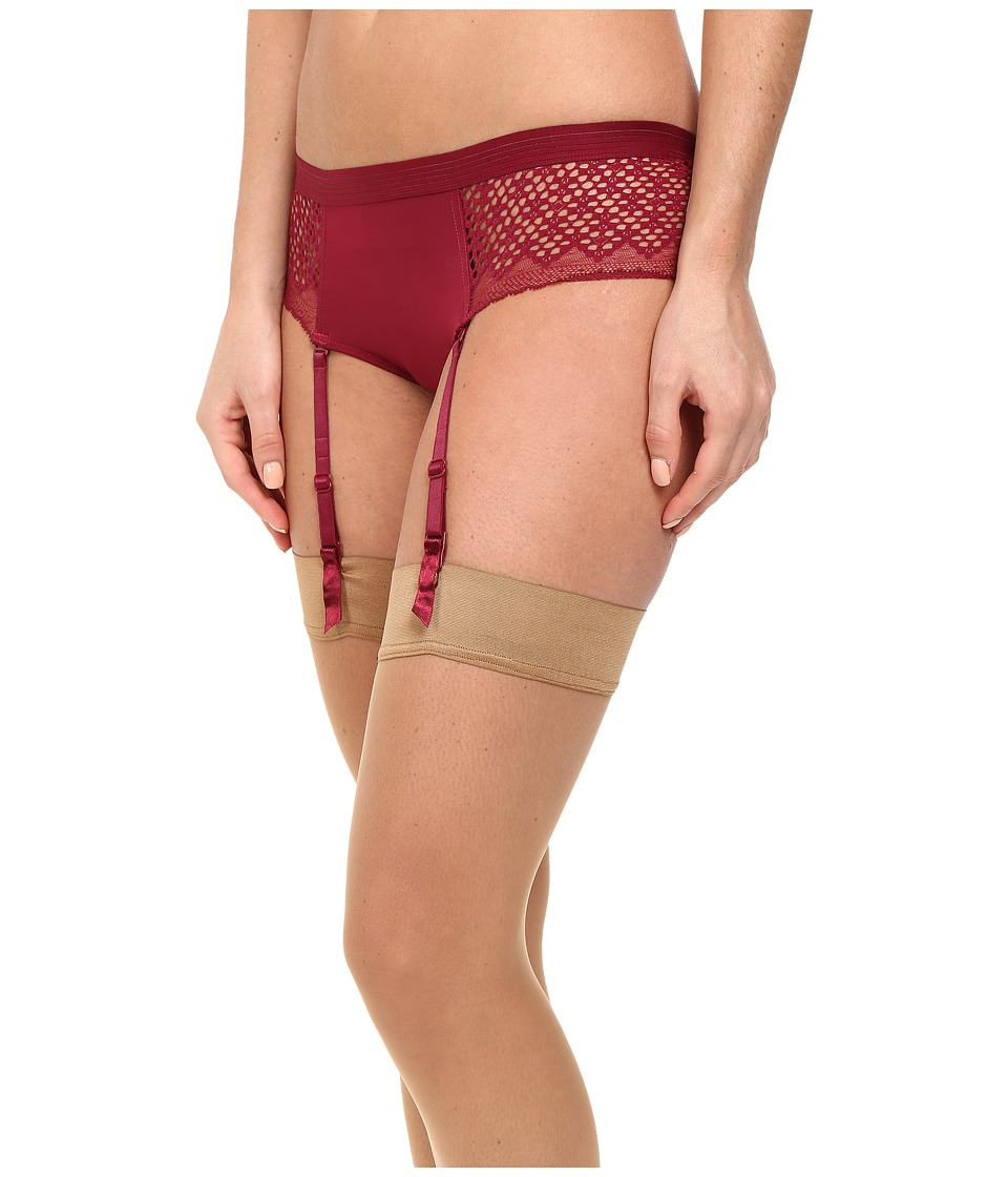 DKNY Intimates - Sheer Lace Garter (Cranberry) Women's Underwear