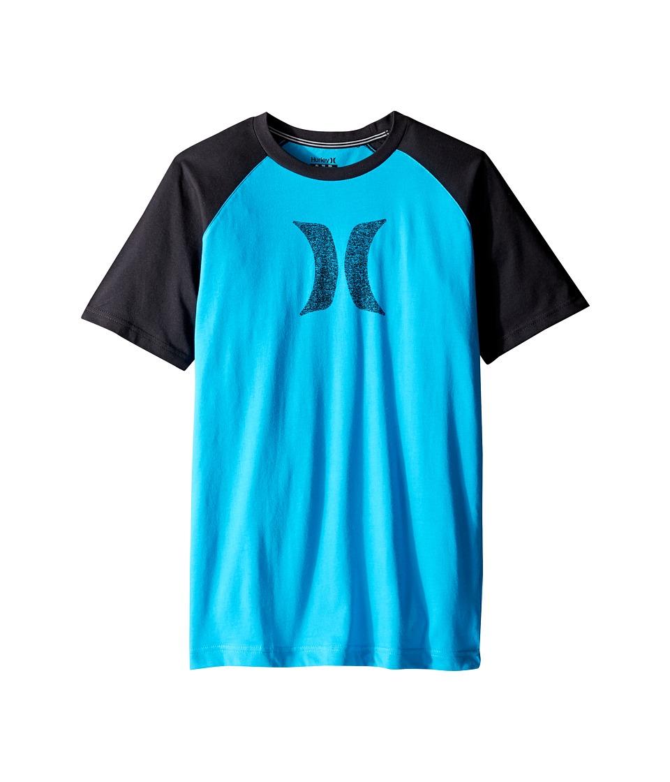 Hurley Kids - Drifit Icon Raglan (Big Kids) (Blue Lagoon) Boy's Clothing