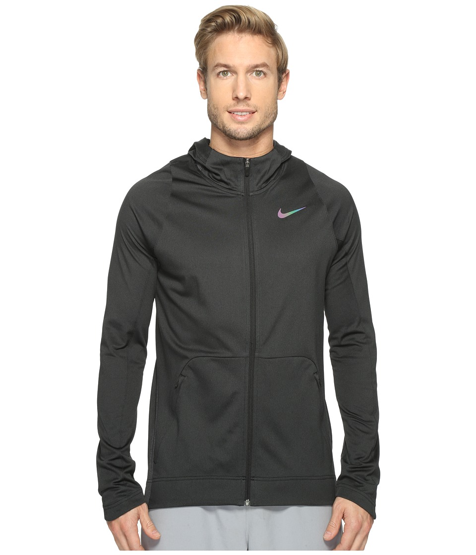Nike - Hyper Elite Basketball Hoodie (Black Heather/Black/Black) Men's Sweatshirt