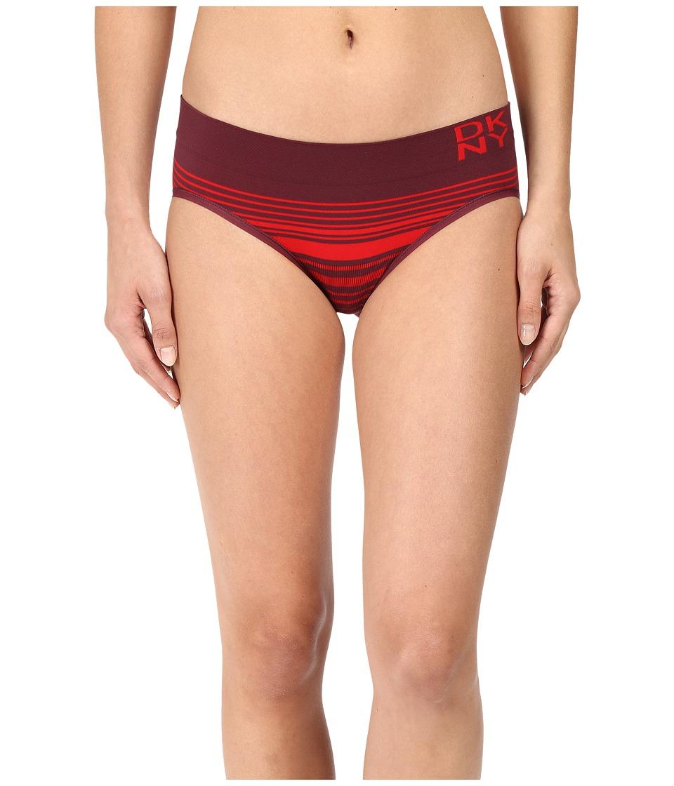 DKNY Intimates - Energy Seamless Bikini (Pink Flirt/Raven/Stripe) Women's Underwear