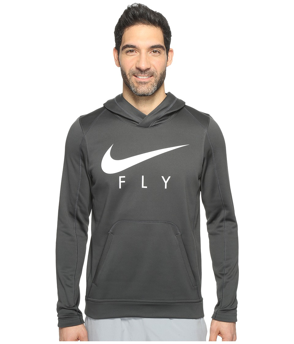 Nike - Therma Basketball Hoodie (Anthracite/White/White) Men's Sweatshirt