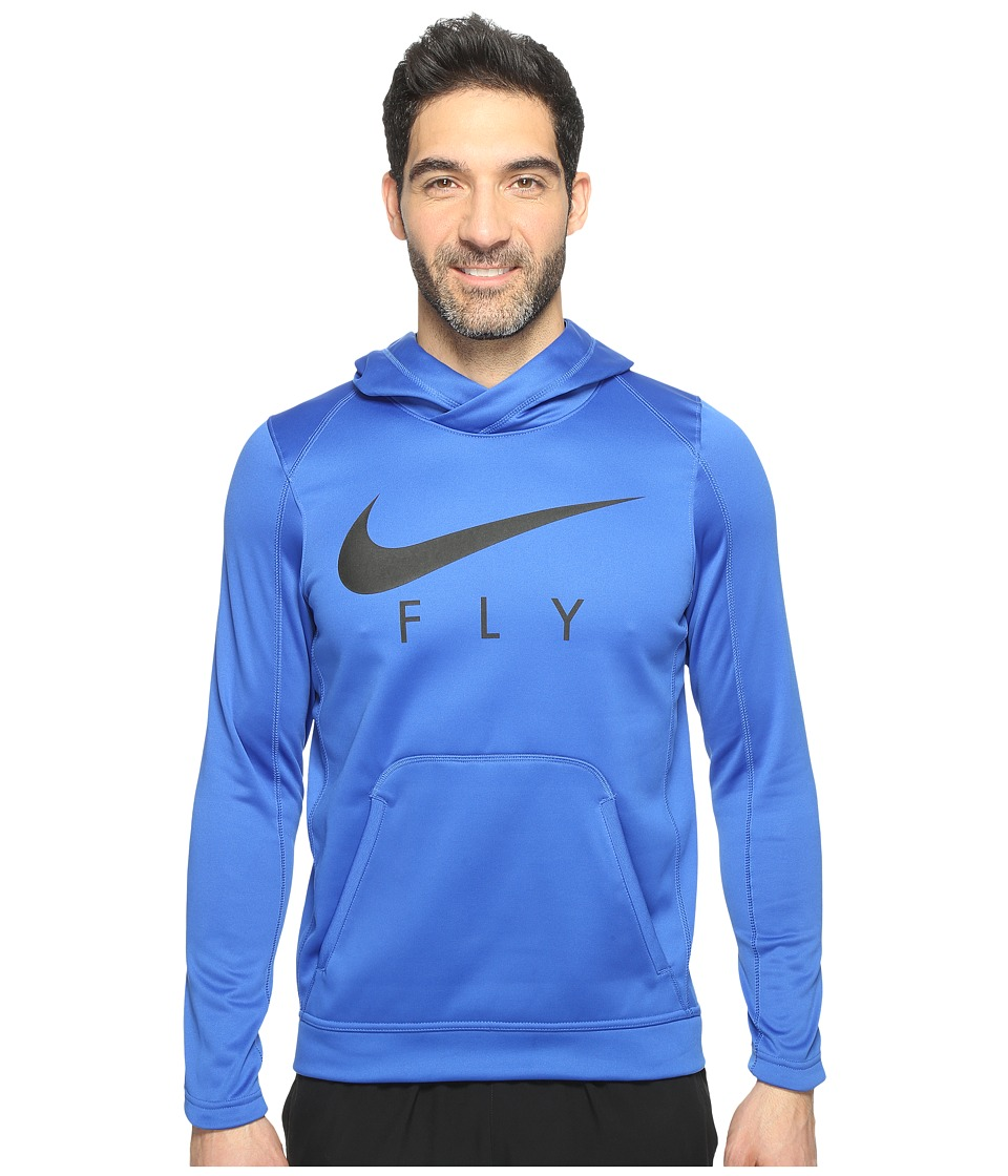 Nike - Therma Basketball Hoodie (Game Royal/Black/Black) Men's Sweatshirt