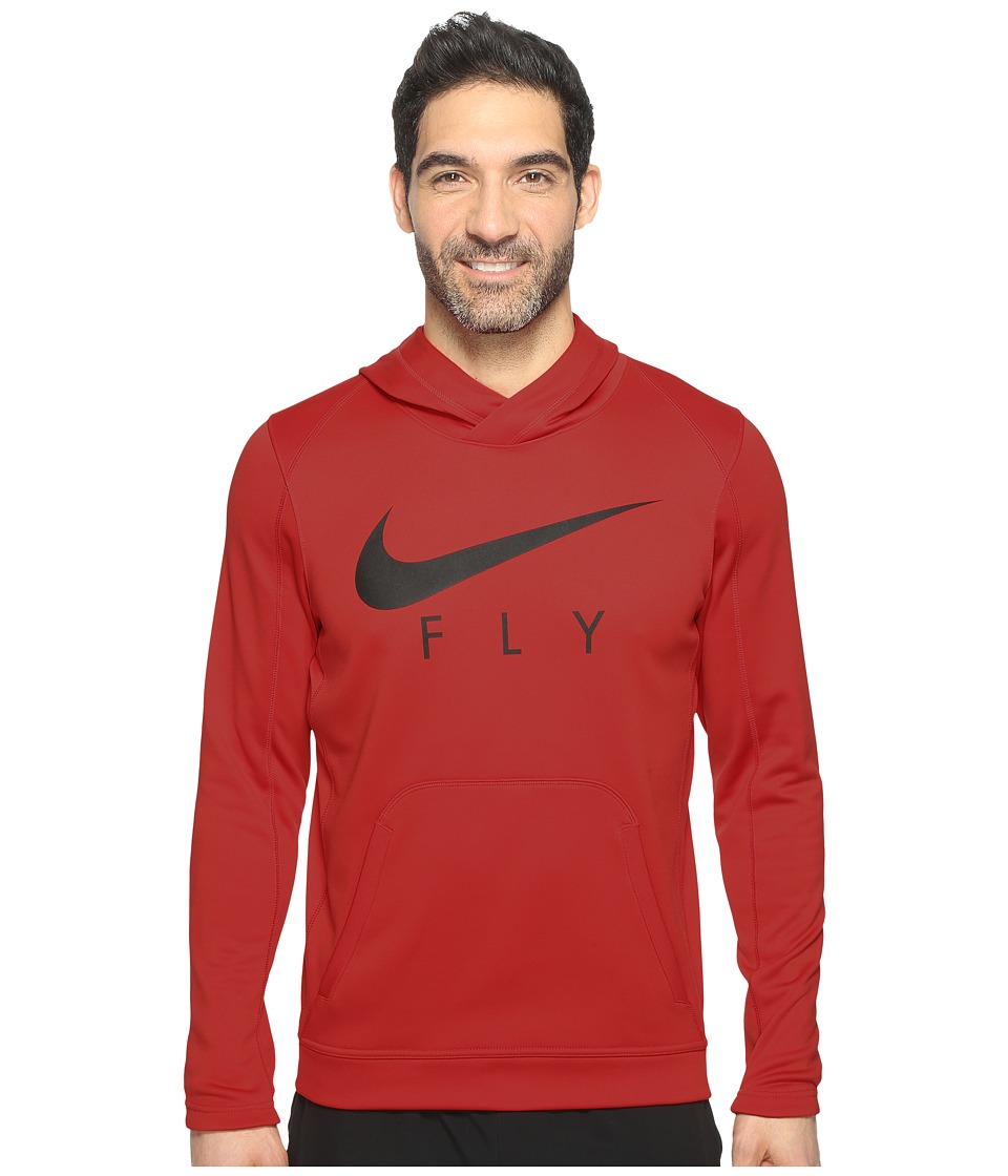 Nike Therma Basketball Hoodie (University Red/Black/Black) Men