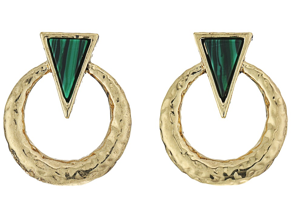 House of Harlow 1960 - Hymn Selene Earrings (Malachite) Earring