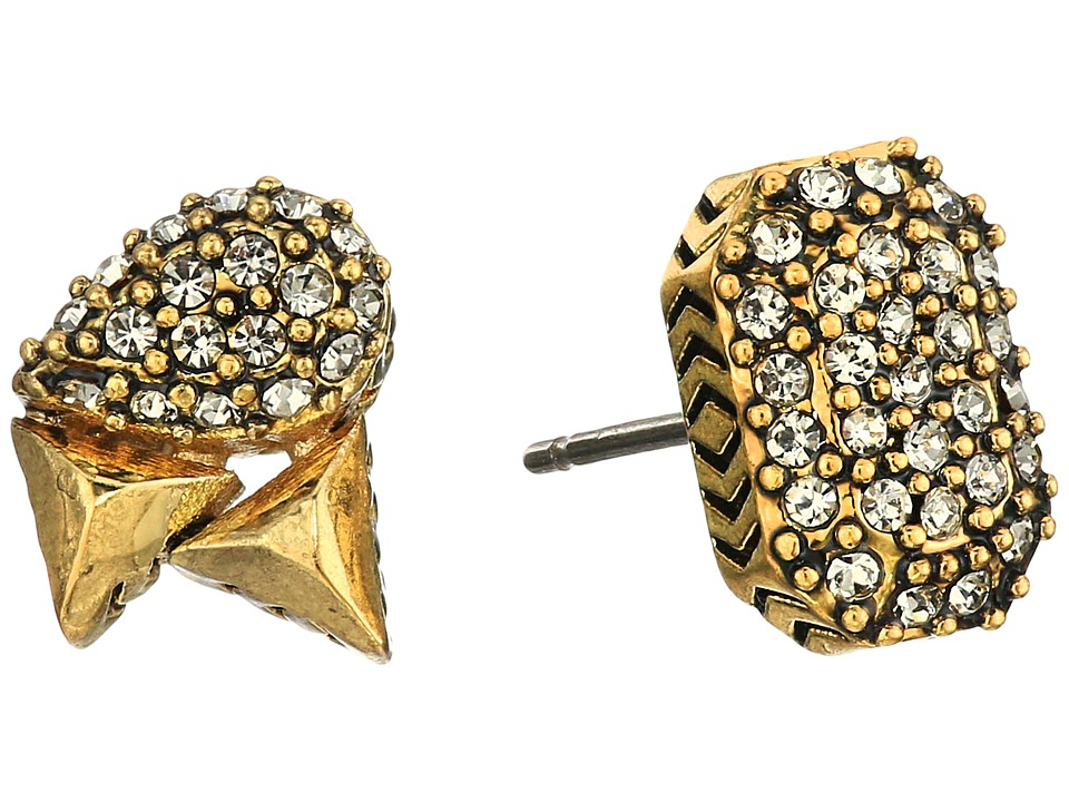 House of Harlow 1960 - The Theia Pave Studs Earrings (Gold) Earring