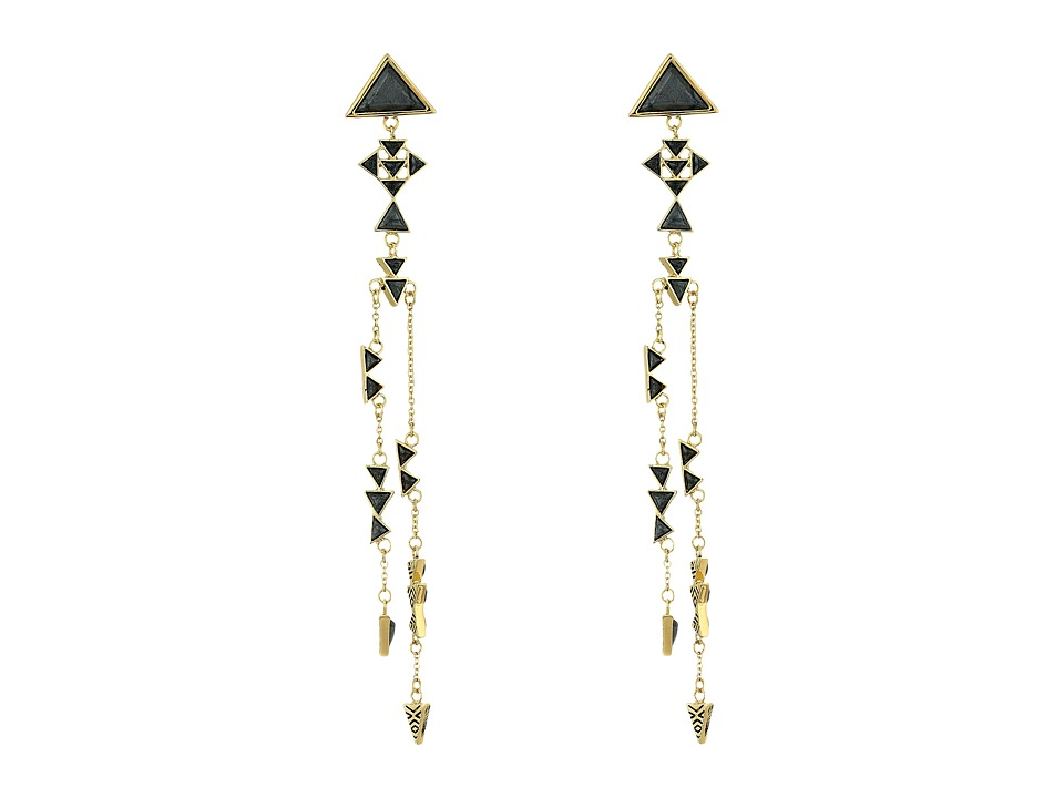 House of Harlow 1960 - Astrea Drop Earrings (Hematite) Earring